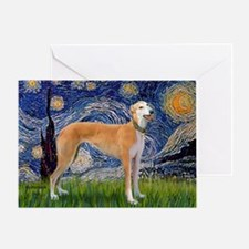 Starry - Greynound (M) Greeting Card