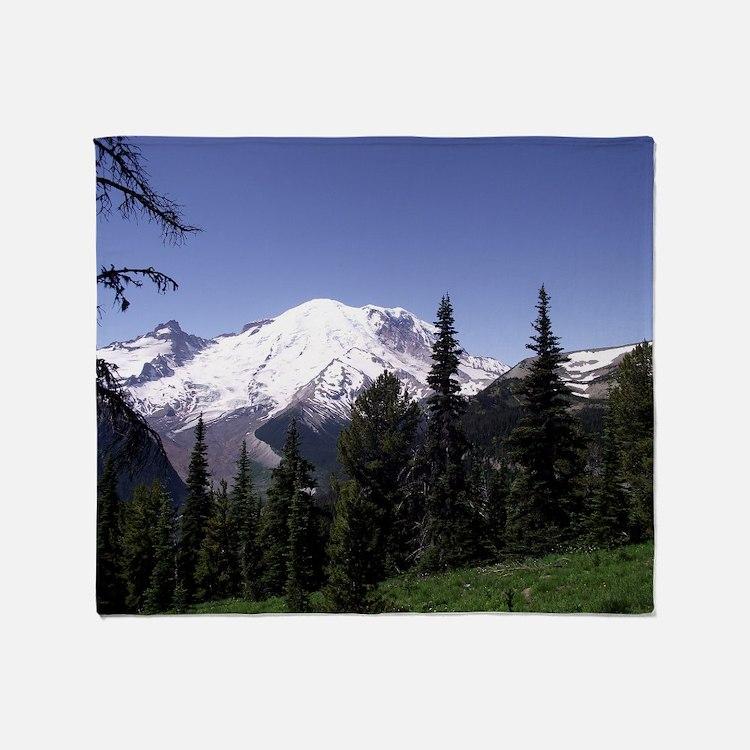 Mt. Rainier Throw Blanket