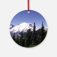 Mt. Rainier Round Ornament