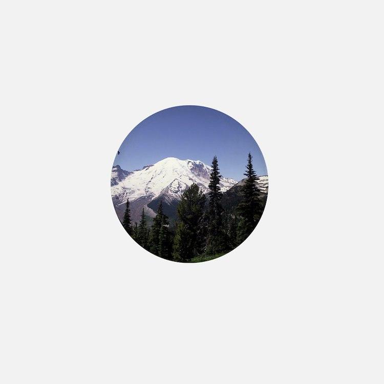 Mt. Rainier Mini Button