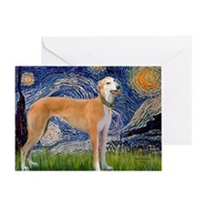 Starry MP - Greynound (M) Greeting Card
