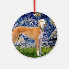 Starry MP - Greynound (M) Round Ornament