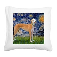 Starry MP - Greynound (M) Square Canvas Pillow