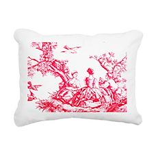 redtoilelaptopskin Rectangular Canvas Pillow