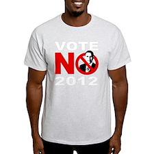 vote no 2012(blk) T-Shirt