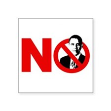 """vote no 2012(blk) Square Sticker 3"""" x 3"""""""
