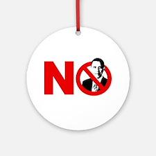 vote no 2012(blk) Round Ornament