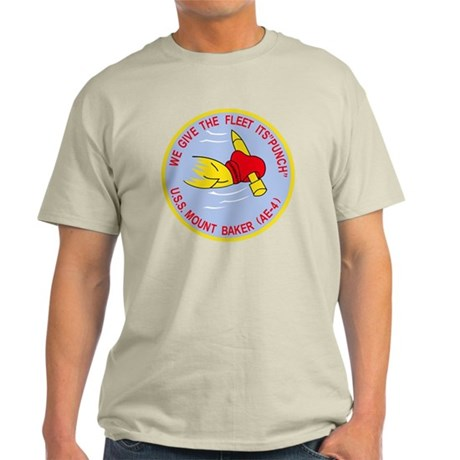 AE-4 USS MOUNT BAKER Ammunition Ship Light T-Shirt