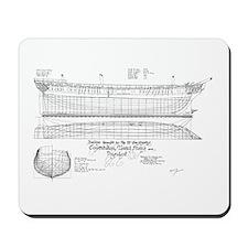 USS Constitution Schematics Mousepad
