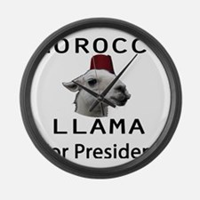 Morocco LLama for President no wo Large Wall Clock