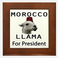 Morocco LLama for President no worse Framed Tile