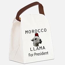 Morocco LLama for President no wo Canvas Lunch Bag
