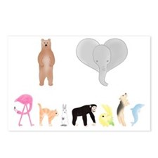animals colour Postcards (Package of 8)