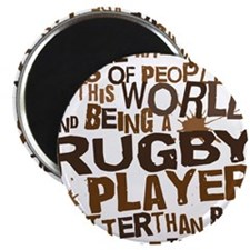 rugbyplayerbrown Magnet