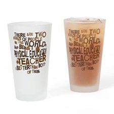 physicaleducationteacherbrown Drinking Glass