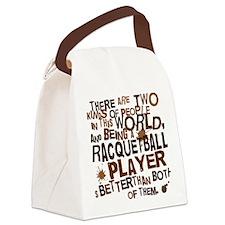raquetballplayerbrown Canvas Lunch Bag