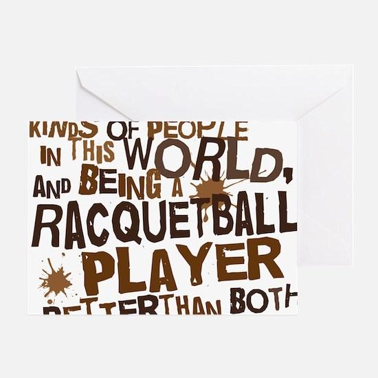 raquetballplayerbrown Greeting Card