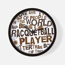 raquetballplayerbrown Wall Clock