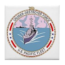 Cruiser Destroyer Force US Pacific Fl Tile Coaster