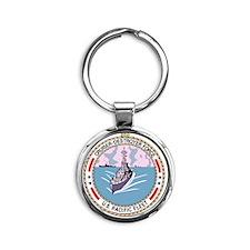 Cruiser Destroyer Force US Pacific  Round Keychain