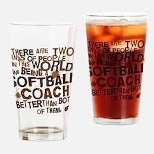 softballcoachbrown Drinking Glass