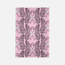 PinkHopeBflyPp441iph Rectangle Magnet