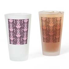 PinkHopeBflyPp460ip Drinking Glass