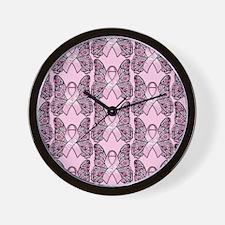 PinkHopeBflyPpMP Wall Clock