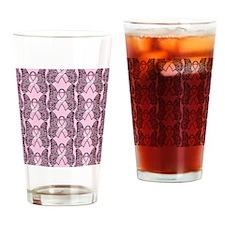 PinkHopeBflyPpMP Drinking Glass