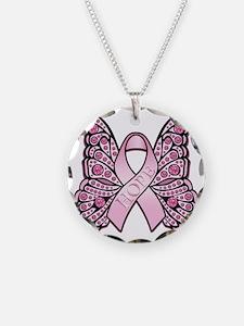 PinkHopeButterflyBtr Necklace
