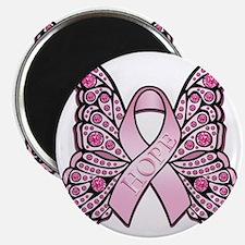 PinkHopeButterflyBtr Magnet
