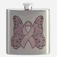 PinkHopeButterflyBtr Flask