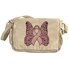 PinkHopeButterflyBtr Messenger Bag