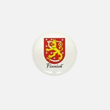 Finnish Coat of Arms Crest Mini Button (10 pack)