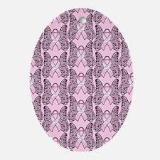 PinkHopePpflyjr Oval Ornament