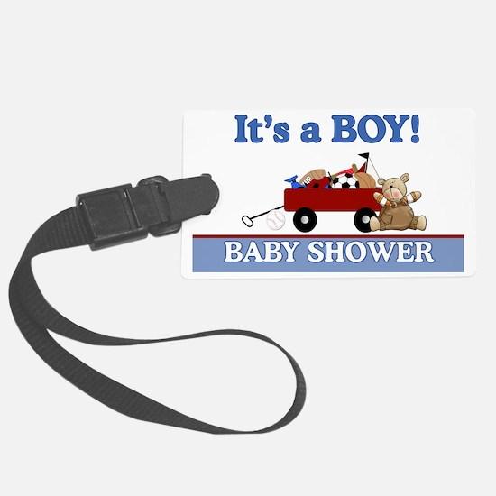 Its a Boy baby shower yard sign Luggage Tag