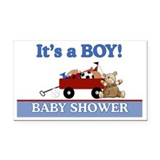 Its a Boy baby shower yard si Rectangle Car Magnet
