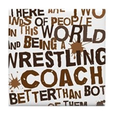 wrestlingcoachbrown Tile Coaster