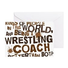 wrestlingcoachbrown Greeting Card