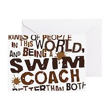 swimcoachbrown Greeting Card