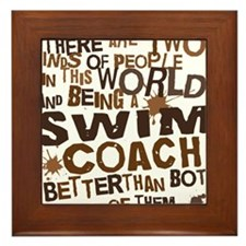 swimcoachbrown Framed Tile
