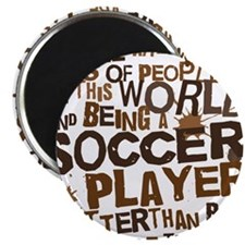 soccerplayerbrown Magnet