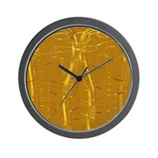 ChristmasGoldSwirls_trim Wall Clock