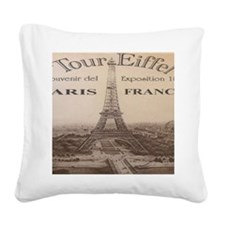 eiffelvcalender Square Canvas Pillow