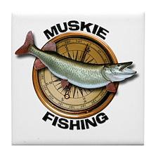 Muskie Musky Tile Coaster