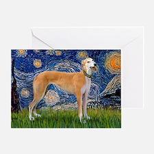 CBag-Starry-Greyhound (M) Greeting Card