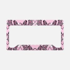 PinkHopeBttflyPPLaptop License Plate Holder
