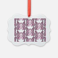 PinkHopeBttflyLaptopTR Ornament