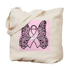 PinkHopeBflyPsq Tote Bag