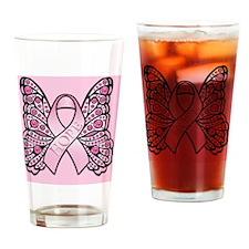 PinkHopeBflyPsq Drinking Glass